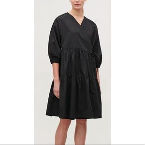 NWT COS | gathered A line wrap dress